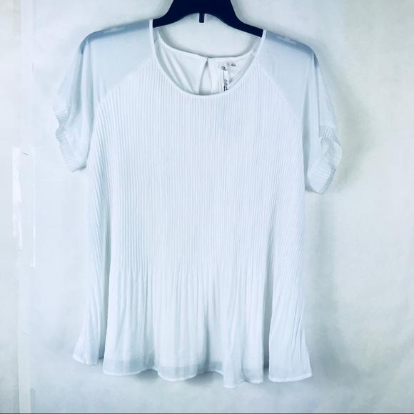 da1f3ee2c620c9 NY Collection Tops | Sz 3x White Pleated Blouse Plus Size | Poshmark